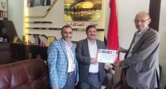 جامعة البيضاء تكرم يمن موبايل تقديرا لدعمها